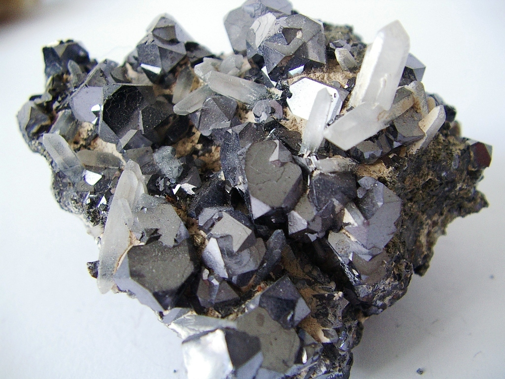 minerals from Bulgaria, Madan, galena with quartz and sphalerite